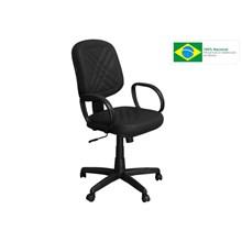 Cadeira de Escritório PD-01GPBP Diretor Giratória com Costura Preta - Pethiflex