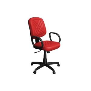 Cadeira de Escritório PD-01GPBP Diretor Giratória com Costura Vermelha - Pethiflex