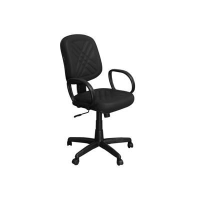 Cadeira de Escritório PD01 Diretor Giratória com Costura Preta - Pethiflex