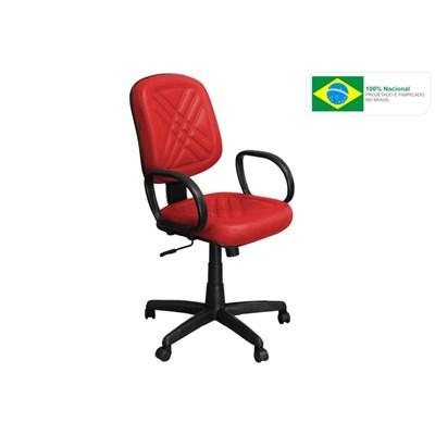 Cadeira de Escritório PD01 Diretor Giratória com Costura Vermelha - Pethiflex