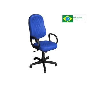 Cadeira de Escritório PP-02GPBP Presidente Giratória com Costura Azul - Pethiflex