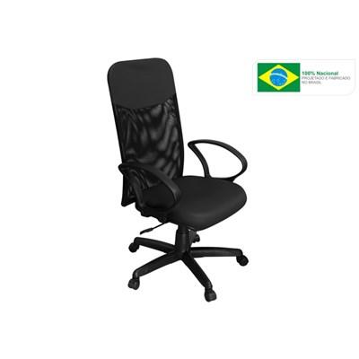 Cadeira de Escritório PP-04GTBP Presidente Giratória Preta - Pethiflex