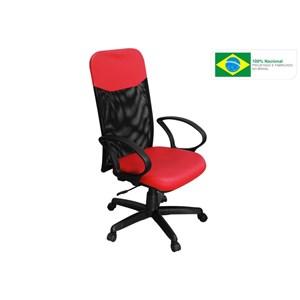 Cadeira de Escritório PP-04GTBP Presidente Giratória Vermelha - Pethiflex