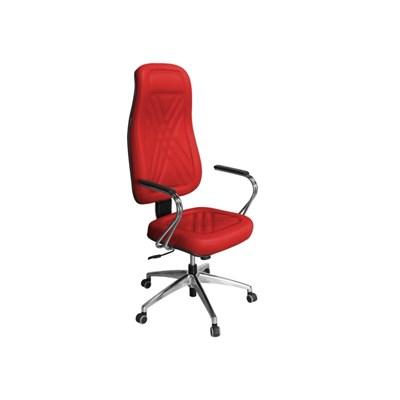 Cadeira de Escritório PP01 Presidente Giratória Cromada Vermelha - Pethiflex