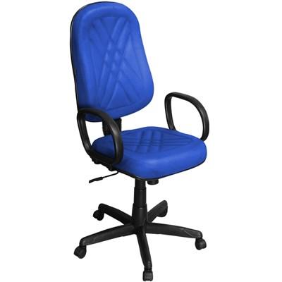Cadeira de Escritório PP02-2 Presidente Giratória com Costura Azul - Pethiflex