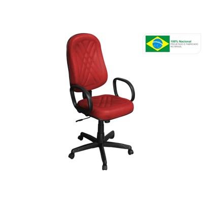 Cadeira de Escritório PP02 Presidente Giratória com Costura Vermelha - Pethiflex