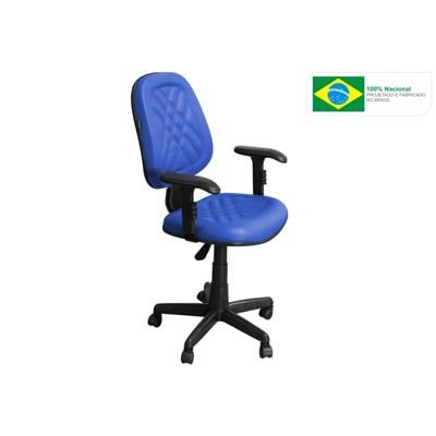 Cadeira de Escritório PS02 Executiva Giratória com Costura Azul - Pethiflex