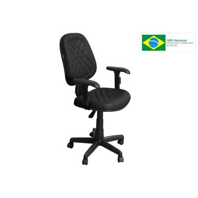 Cadeira de Escritório PS02 Executiva Giratória com Costura Preta - Pethiflex