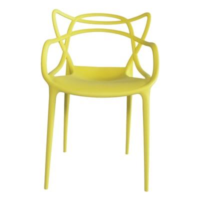 Cadeira Decorativa para Sala de Jantar Amsterdam F01 Amarela - Mpozenato