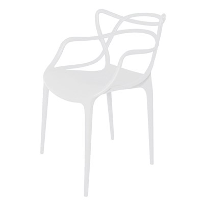 Cadeira Decorativa para Sala de Jantar Amsterdam F01 Branca - Mpozenato
