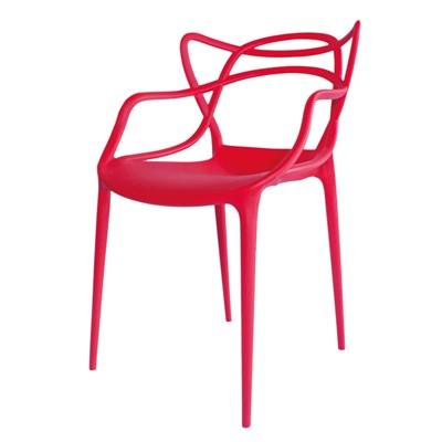 Cadeira Decorativa para Sala de Jantar Amsterdam F01 Vermelha - Mpozenato