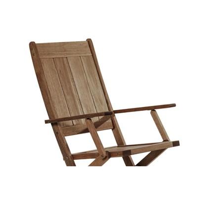 Cadeira Dobrável com Braços Acqualung Nogueira - Mão & Formão