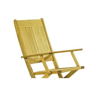 Cadeira Dobrável com Braços Acqualung Stain Amarelo - Mão & Formão