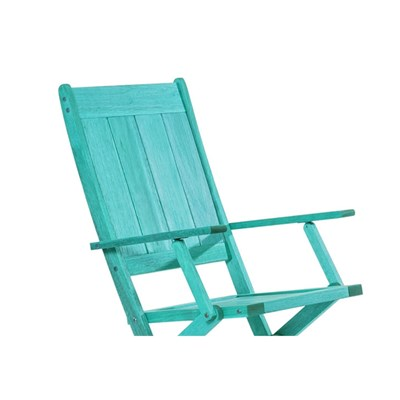 Cadeira Dobrável com Braços Acqualung Stain Azul - Mão & Formão