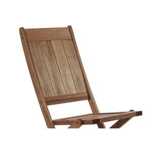 Cadeira Dobrável sem Braços Acqualung Nogueira - Mão & Formão