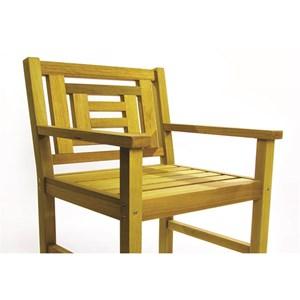 Cadeira Echoes Stain Amarelo - Mão & Formão