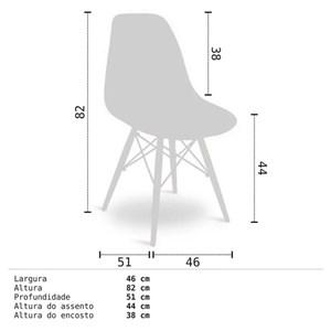 Cadeira Eiffel Charles Eames Branca com Base de Madeira DSW