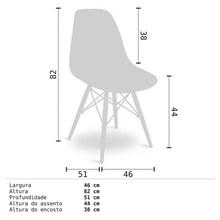 Cadeira Eiffel Charles Eames em ABS Branca com Base de Madeira DSW