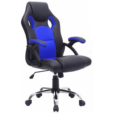 Cadeira Gamer Giratória Extreme F01 Preta/Azul  - Mpozenato