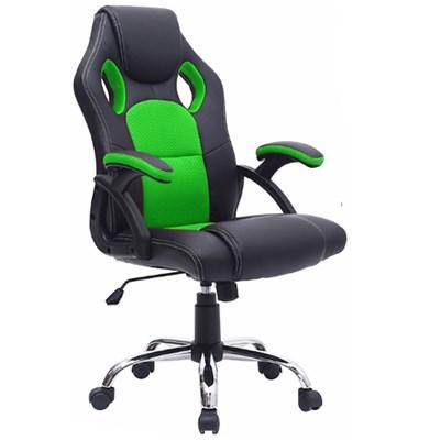 Cadeira Gamer Giratória Extreme F01 Preta/Verde - Mpozenato