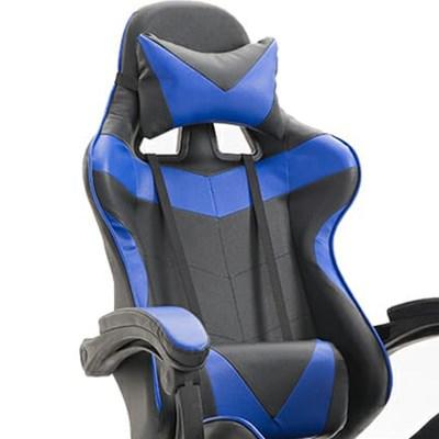 Cadeira Gamer Giratória Supreme F01 Preto/Azul - Mpozenato