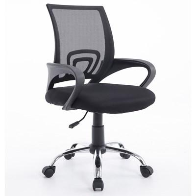 Cadeira Giratória para Escritório com Rodizios Class F01 Preto - Mpozenato