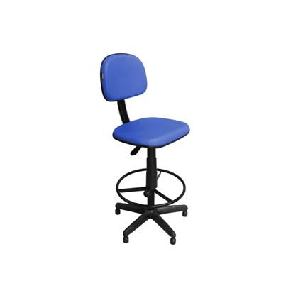 Cadeira Recepção CSX-02 Caixa Alta Giratória Azul - Pethiflex