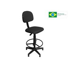Cadeira Recepção CSX-02 Caixa Alta Giratória Preta - Pethiflex