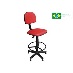 Cadeira Recepção CSX-02 Caixa Alta Giratória Vermelha - Pethiflex