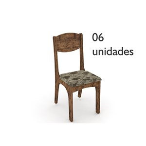 Cadeiras para Sala de Jantar CA12 Nobre com Assento Chenille Floral - Dalla Costa
