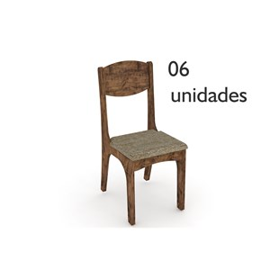 Cadeiras para Sala de Jantar CA12 Nobre com Assento Chenille Marrom - Dalla Costa