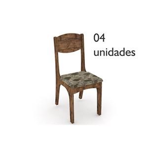 Cadeiras para Sala de Jantar CA12 Nobre com Chenille Floral - Dalla Costa