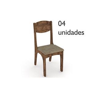 Cadeiras para Sala de Jantar CA12 Nobre com Chenille Marrom - Dalla Costa