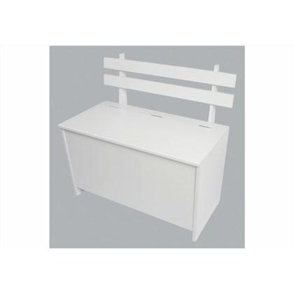 Caixa de Lenha com Encosto Branco - Completa Móveis