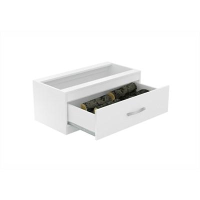 Caixa de Lenha Embutida CL N1 Branco - Completa Móveis