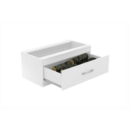 Caixa de Lenha Embutida CL N2 Branco - Completa Móveis