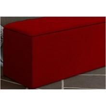 Calçadeira Baú Paris com 160 cm Vermelho Suede Amassado - JS Móveis
