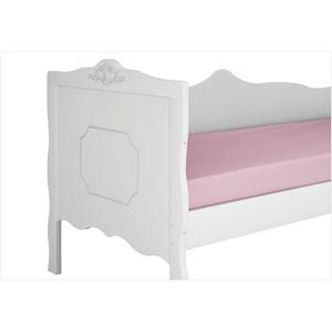 Cama Babá para Colchão 188 x 88 cm Realeza Branco Acetinado - Canaã