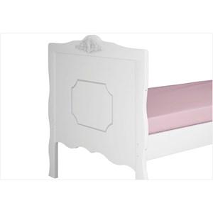 Cama de Solteiro para Colchão 188 x 88 cm Realeza Branco Acetinado - Canaã