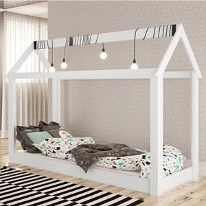 Cama Infantil Casinha Montessoriana Branco - Completa Móveis