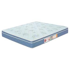 Colchão Casal King Sleep Max Espuma D45 180x200x25cm Branco/Azul - Castor