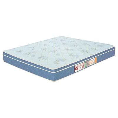 Colchão Casal Queen Sleep Max Espuma D45 158x198x25cm Branco/Azul - Castor