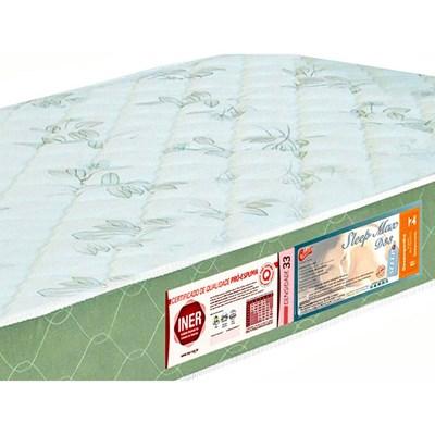Colchão Solteiro Sleep Max Espuma D33 120x203x15cm Branco/Verde - Castor
