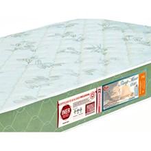 Colchão Solteiro Sleep Max Espuma D33 78x188x15cm Branco/Verde - Castor
