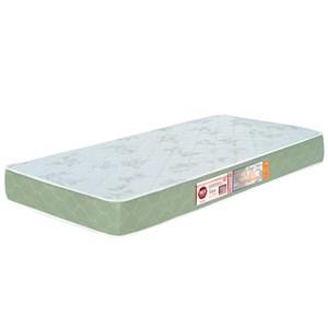 Colchão Solteiro Sleep Max Espuma D33 88x188x15cm Branco/Verde - Castor