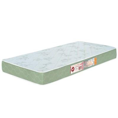 Colchão Solteiro Sleep Max Espuma D33 96x203x15cm Branco/Verde - Castor