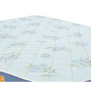 Colchão Solteiro Sleep Max Espuma D45 100x200x15cm Branco/Azul - Castor