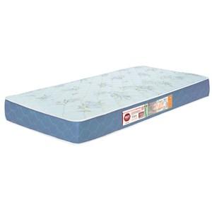 Colchão Solteiro Sleep Max Espuma D45 88x188x15cm Branco/Azul - Castor