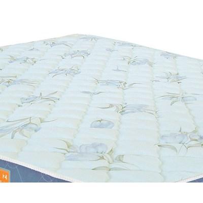Colchão Solteiro Sleep Max Espuma D45 88x188x18cm Branco/Azul - Castor