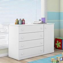 Cômoda Infantil Helena 01 Porta e 04 Gavetas Branco - Phoenix